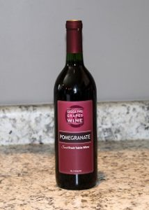 Giggling Grapes Winery Your Favorite Table Wine Pomegranate